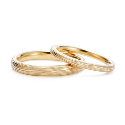 Novello 結婚指輪 アンティーク 個性派 ストレート イエローゴールド