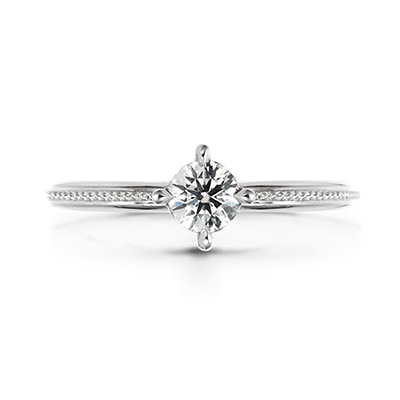 Ritmare Fine 婚約指輪 シンプル エレガント アンティーク ストレート プラチナ