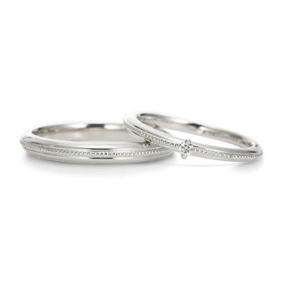 Ritmare Fine 結婚指輪 シンプル アンティーク ストレート プラチナ