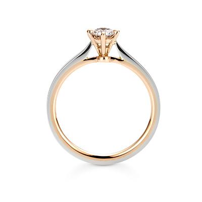 Tsukihi 婚約指輪 シンプル エレガント アンティーク ストレート プラチナ ピンクゴールド コンビ