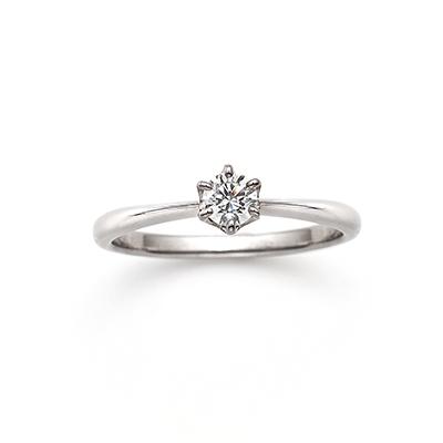 Serendipity-I 婚約指輪 シンプル ストレート プラチナ