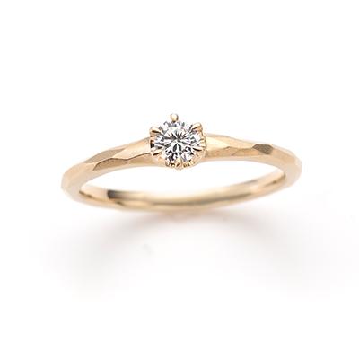 Prism 婚約指輪 アンティーク ストレート イエローゴールド