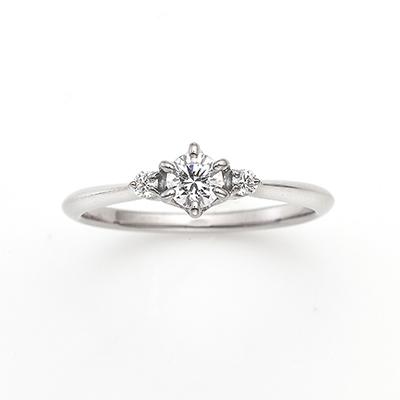 Wish 婚約指輪 シンプル ストレート プラチナ
