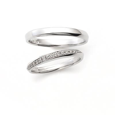 Ray 結婚指輪 シンプル ストレート エタニティ プラチナ