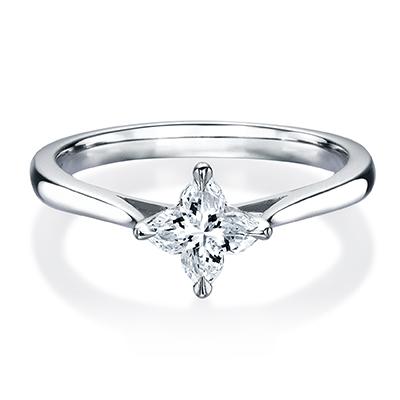 HRGOR8004 婚約指輪 シンプル 個性派 ストレート プラチナ