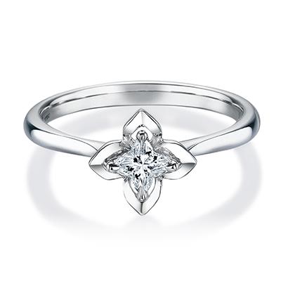 HRGOR8005 婚約指輪 シンプル 個性派 ストレート プラチナ
