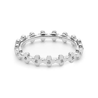 HRGPT8102F 結婚指輪 エレガント キュート 個性派 ストレート プラチナ