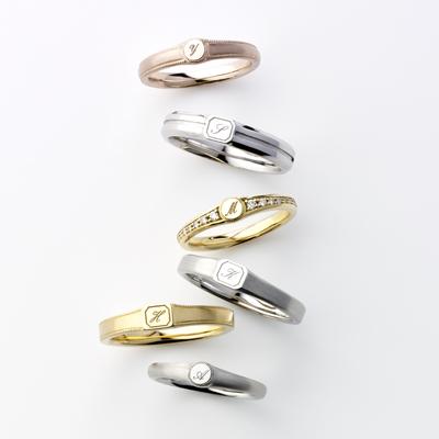 LOFTE 結婚指輪 シンプル アンティーク 個性派 ストレート プラチナ イエローゴールド ピンクゴールド