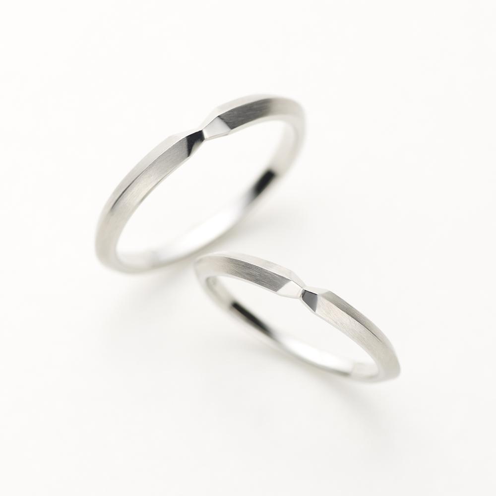 SPECCHIO 結婚指輪 シンプル 個性派 ストレート プラチナ