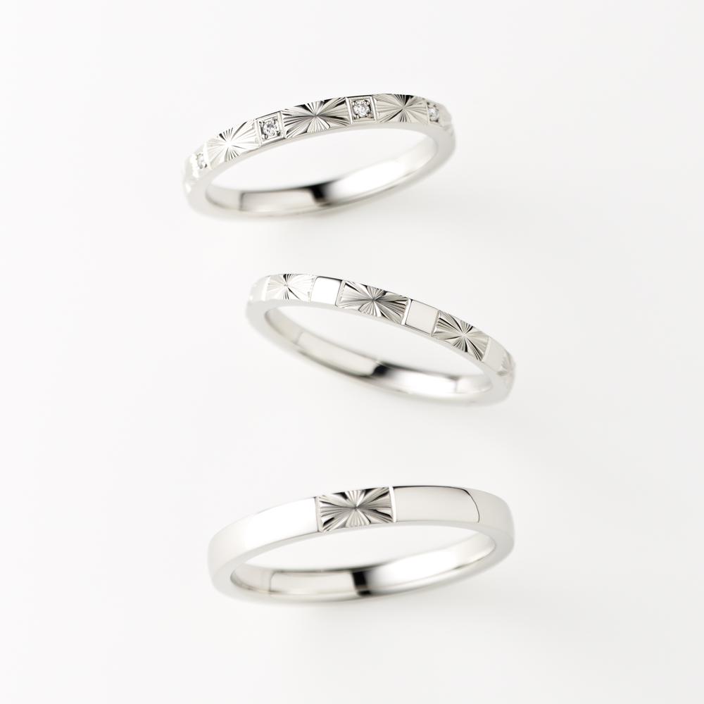 REYON 結婚指輪 アンティーク 個性派 ストレート パラジウム