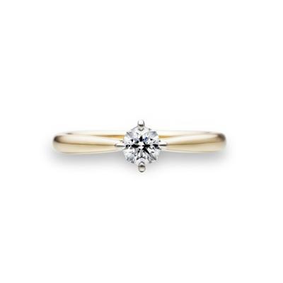 Infinity 婚約指輪 シンプル ストレート イエローゴールド