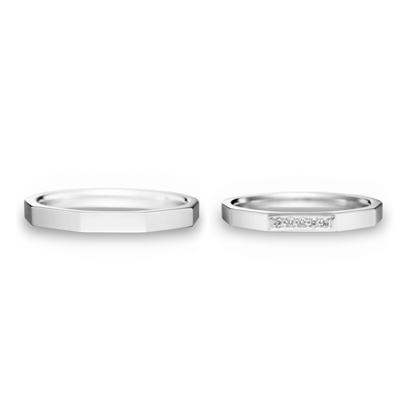 Endless Link 結婚指輪 シンプル エレガント ストレート プラチナ