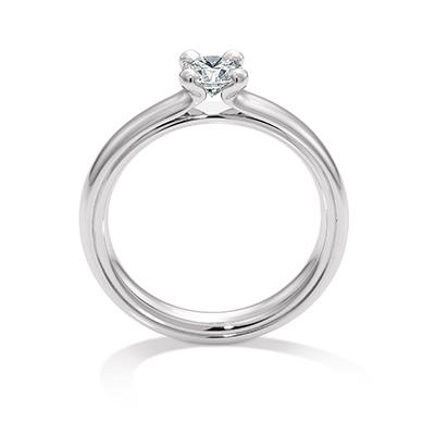 140453 婚約指輪 シンプル 個性派 ストレート ホワイトゴールド