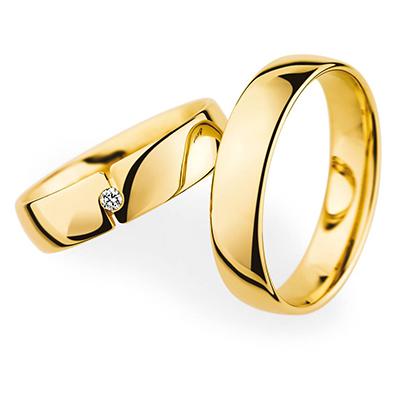 20050 結婚指輪 シンプル ストレート 幅広 イエローゴールド