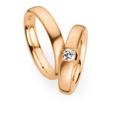 241550 結婚指輪 シンプル ストレート 幅広 ピンクゴールド