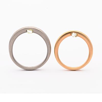 tmh. ティーエムエイチ. 結婚指輪 シンプル アンティーク 個性派 ストレート イエローゴールド ホワイトゴールド
