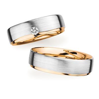 241566 結婚指輪 シンプル 個性派 ストレート 幅広 ホワイトゴールド ピンクゴールド