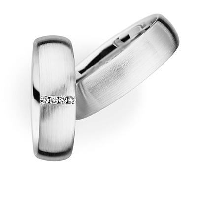 243516 結婚指輪 シンプル ストレート 幅広 ホワイトゴールド