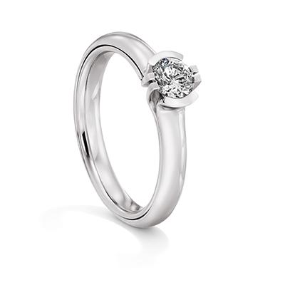 140531 婚約指輪 シンプル 個性派 ストレート 幅広 ホワイトゴールド