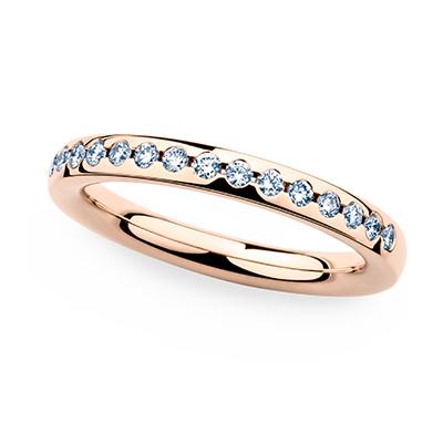 246661 婚約指輪 シンプル エレガント ストレート エタニティ ピンクゴールド