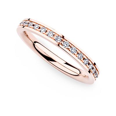 246662 婚約指輪 シンプル エレガント ストレート エタニティ ピンクゴールド