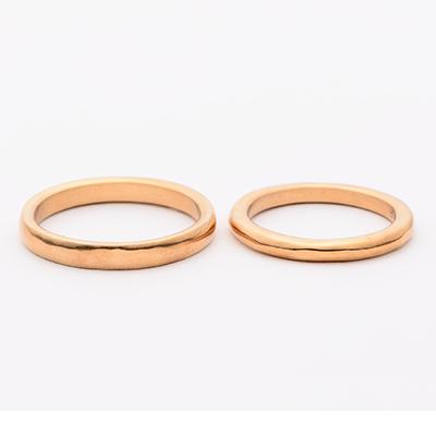 tmh. ティーエムエイチ. 結婚指輪 シンプル アンティーク ストレート イエローゴールド