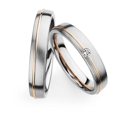 241270 結婚指輪 シンプル キュート ストレート 幅広 ホワイトゴールド ピンクゴールド