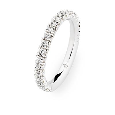 246691 婚約指輪 シンプル エレガント ストレート エタニティ ホワイトゴールド