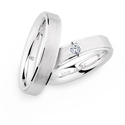 241282 結婚指輪 シンプル ストレート 幅広 ホワイトゴールド