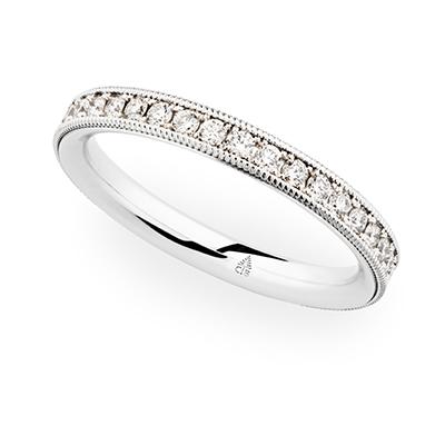 246954 婚約指輪 シンプル エレガント ストレート エタニティ ホワイトゴールド