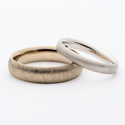 SHIHARA シハラ  結婚指輪 シンプル アンティーク ストレート プラチナ イエローゴールド ホワイトゴールド