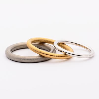 SHIHARA 結婚指輪 シンプル ストレート プラチナ イエローゴールド ホワイトゴールド