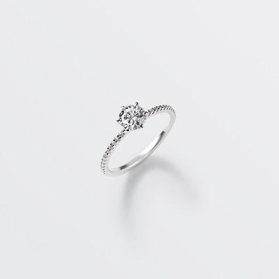 chemin 婚約指輪 シンプル エレガント ストレート エタニティ プラチナ