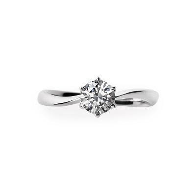 LiAnge 婚約指輪 シンプル S字(ウェーブ) プラチナ