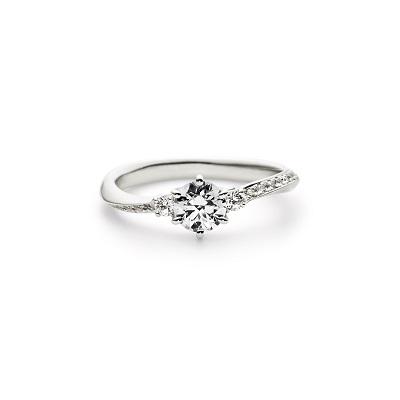 PORTADA 婚約指輪 エレガント S字(ウェーブ) エタニティ プラチナ