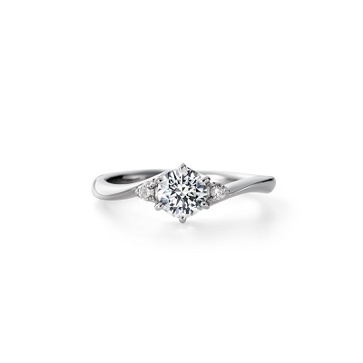 TOMOE 婚約指輪 シンプル S字(ウェーブ) プラチナ