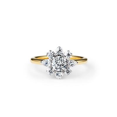 TOMOE 婚約指輪 シンプル エレガント 個性派 ストレート コンビ