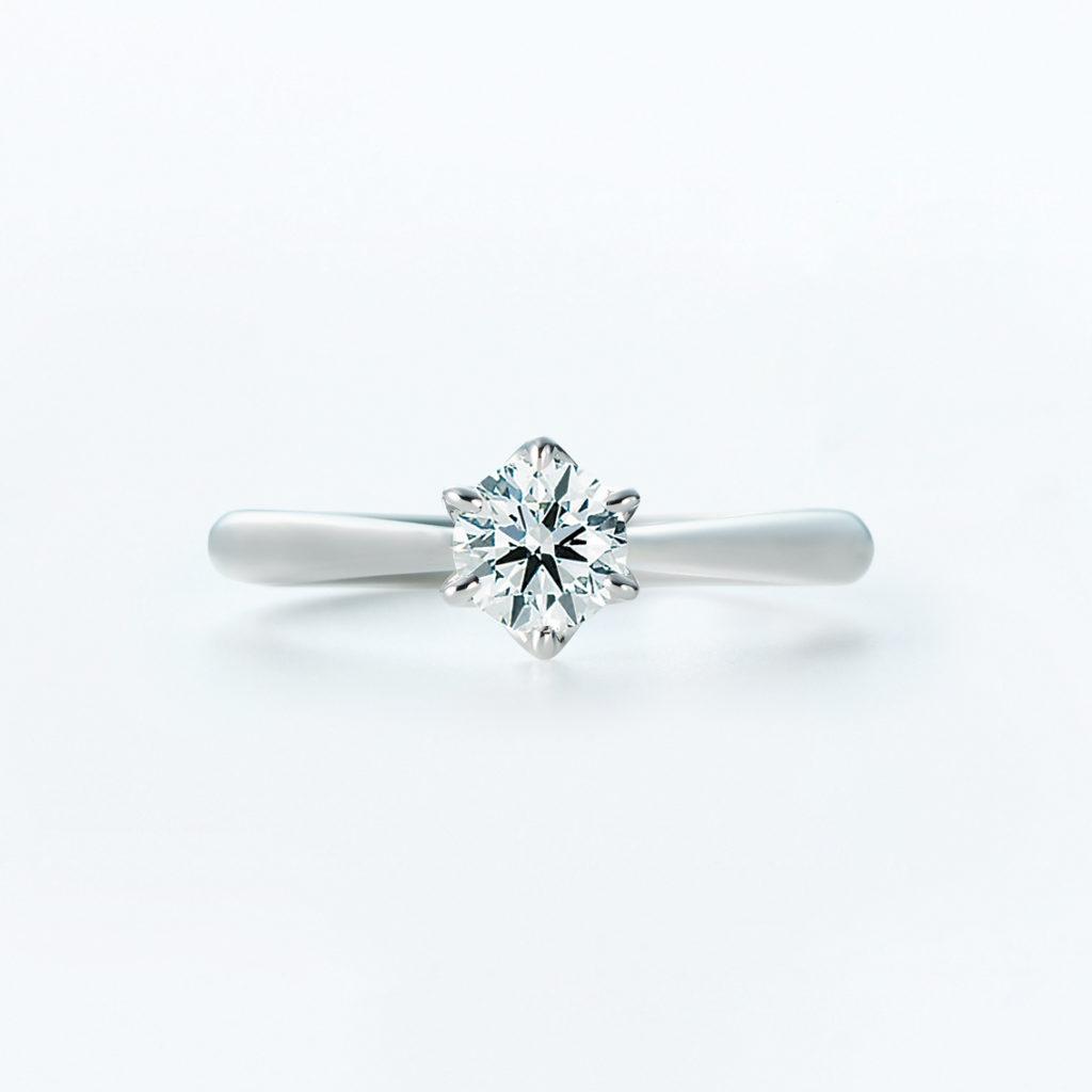 Dione 婚約指輪 シンプル ストレート プラチナ