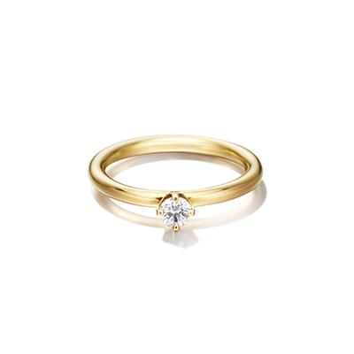 Sweet Pea 婚約指輪 シンプル アンティーク ストレート イエローゴールド