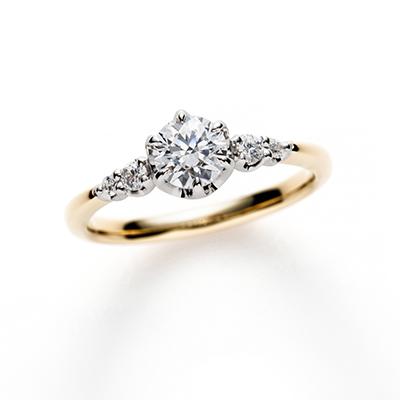 Princess 婚約指輪 キュート ストレート イエローゴールド
