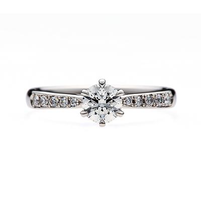 muffinⅡ 婚約指輪 シンプル エレガント キュート ストレート エタニティ プラチナ