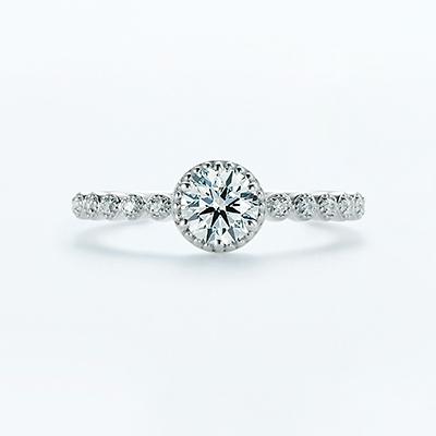 vesta 婚約指輪 エレガント 個性派 ストレート エタニティ プラチナ