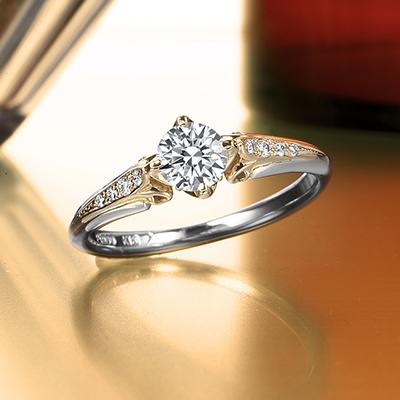 Pont-Neuf 婚約指輪 アンティーク 個性派 ストレート プラチナ