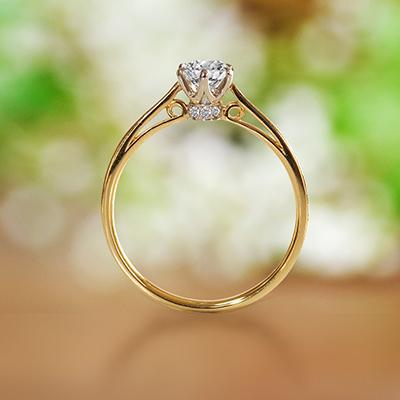 Pont-Marie 婚約指輪 アンティーク キュート ストレート ピンクゴールド