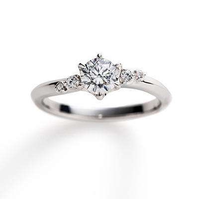 aria 婚約指輪 エレガント 個性派 S字(ウェーブ) プラチナ