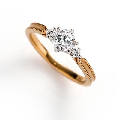 cerca 婚約指輪 シンプル キュート 個性派 ストレート イエローゴールド