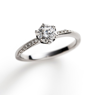 flow 婚約指輪 シンプル エレガント S字(ウェーブ) プラチナ