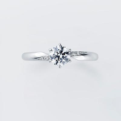 Freesia 婚約指輪 シンプル エレガント 個性派 ストレート プラチナ