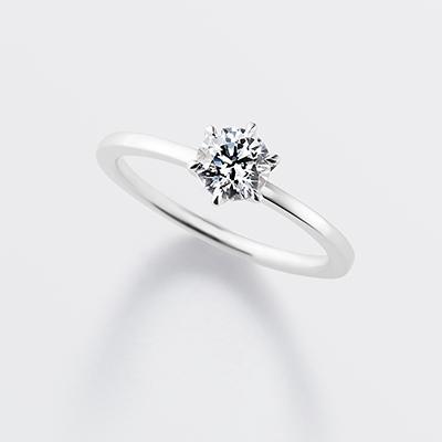 chemin 婚約指輪 シンプル エレガント ストレート プラチナ