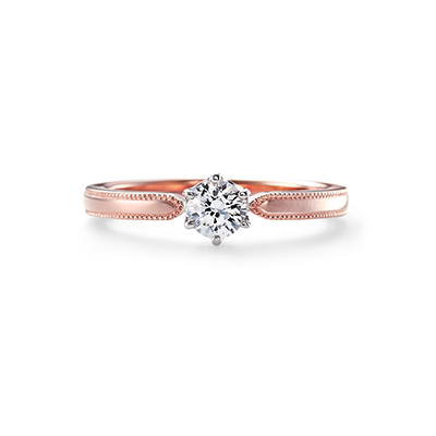 ACOUSTIC LOVE 婚約指輪 キュート 個性派 ストレート ピンクゴールド